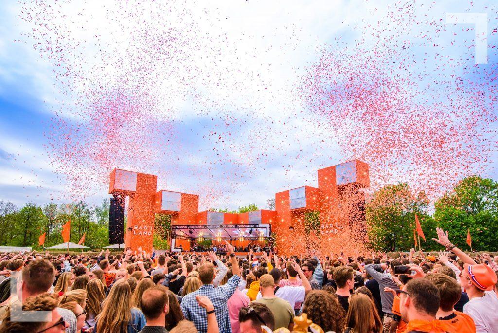 Loveland Van Oranje Kingsday Festival in the Netherlands