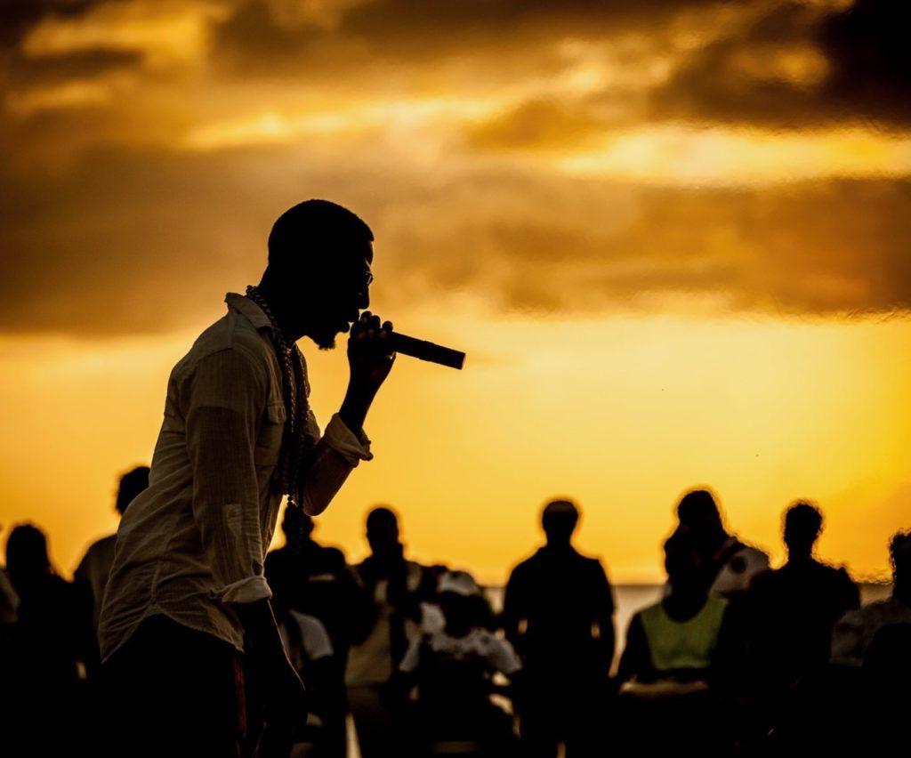 Crop Over Festival signer at concert in Barbados