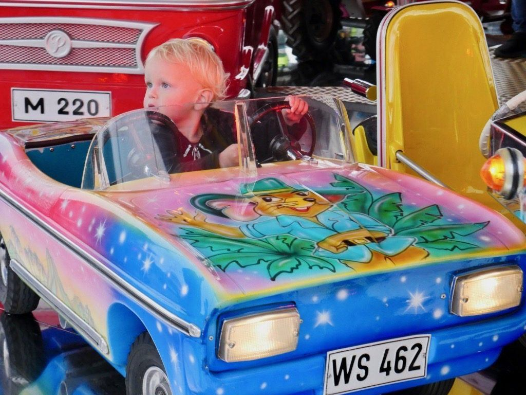 Theo in the Fairground at Springfest in Munich