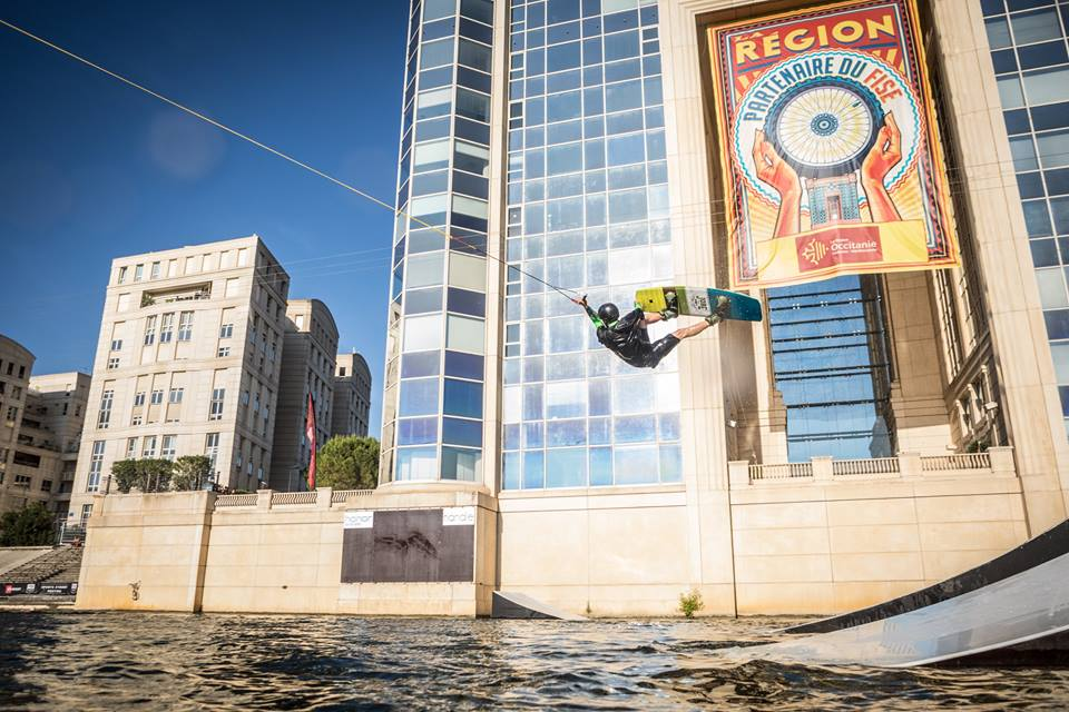 Wakeboarder in Montpellier at FISE