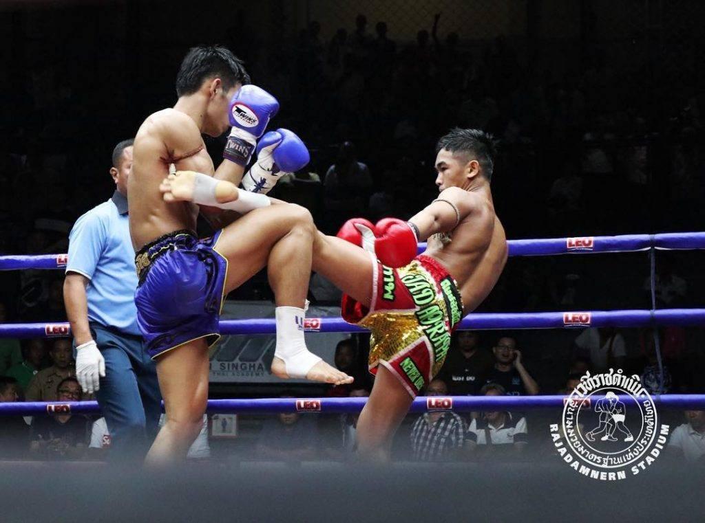 Muaythai at Rajadamnern Stadium in Thailand