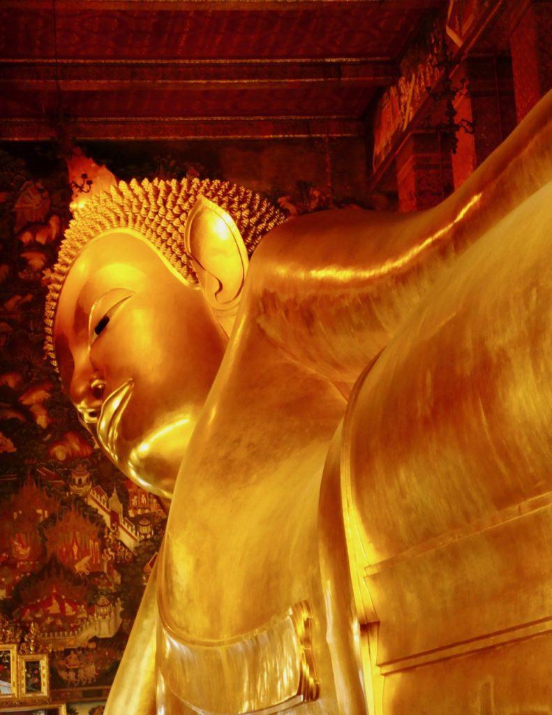 Reclining buddha Wat Pho Temple in Bangkok