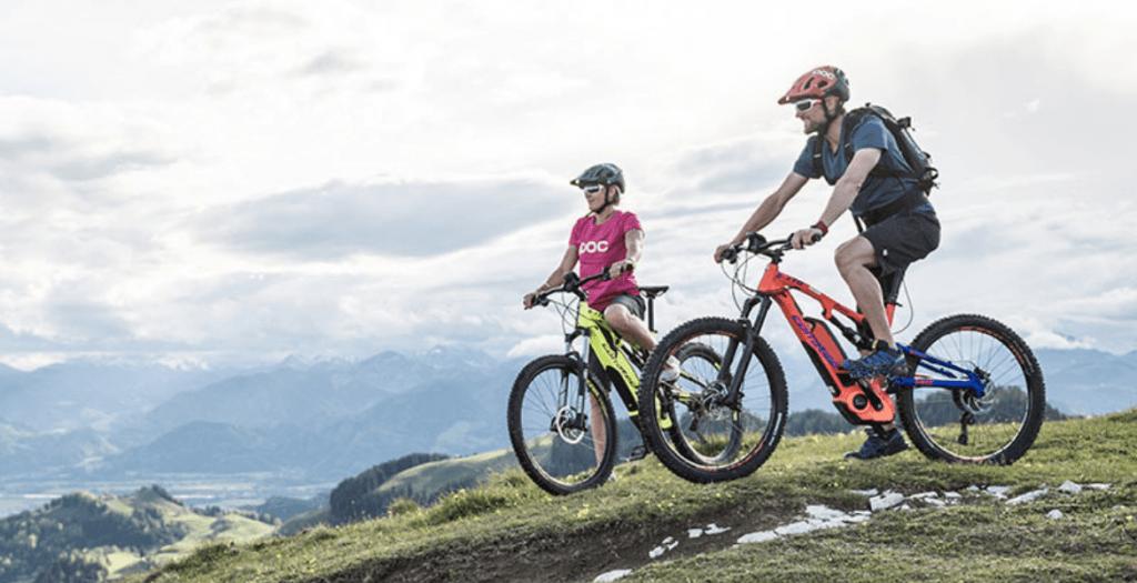 E-mountain biking in Garmisch, Germany