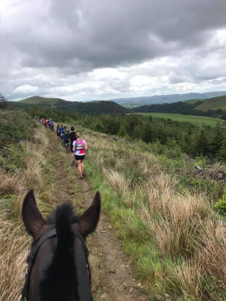 running against horses in Wales