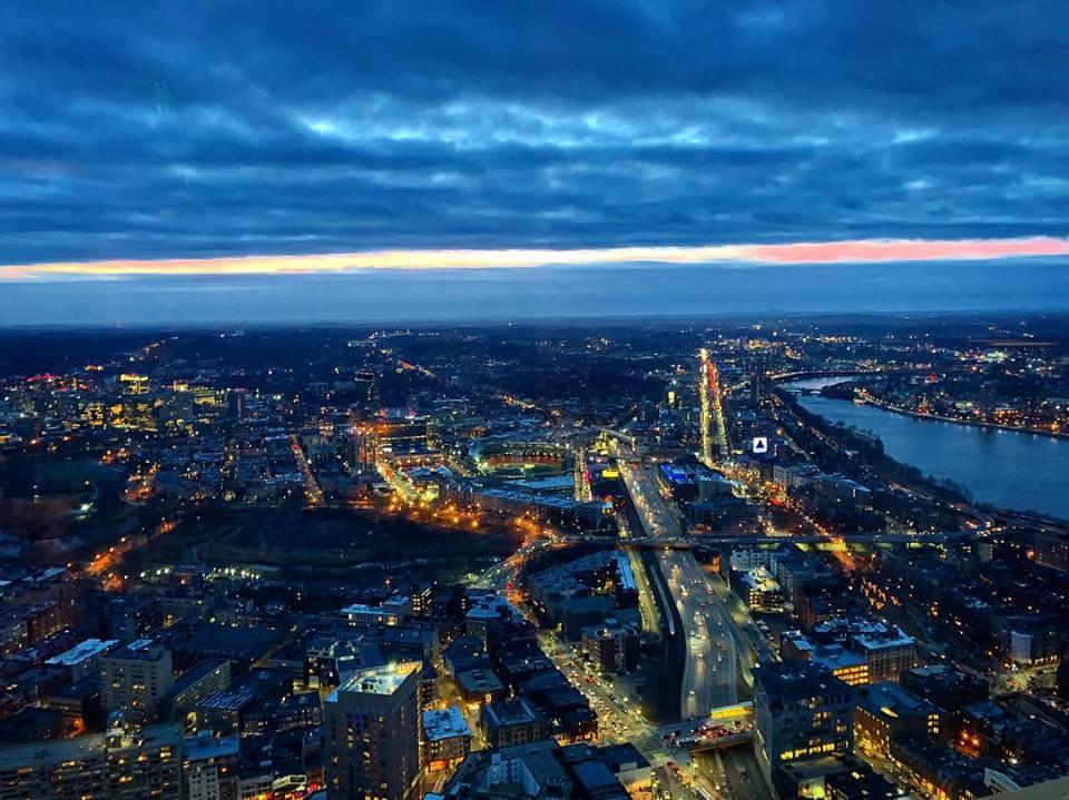 Top of the hub in Boston, Massachusetts