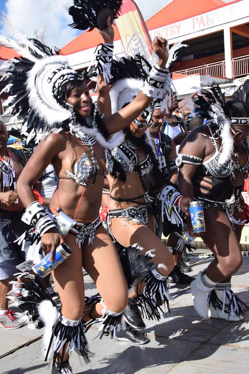 dancing at St Lucia Carnival in the Caribbean
