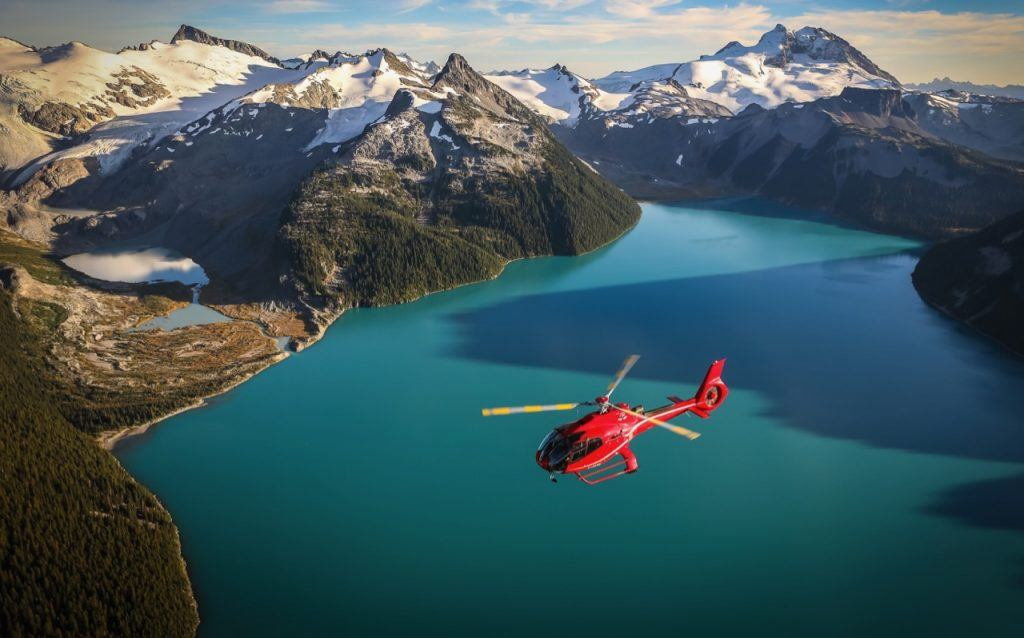 Helicopter trip in BC, Canada