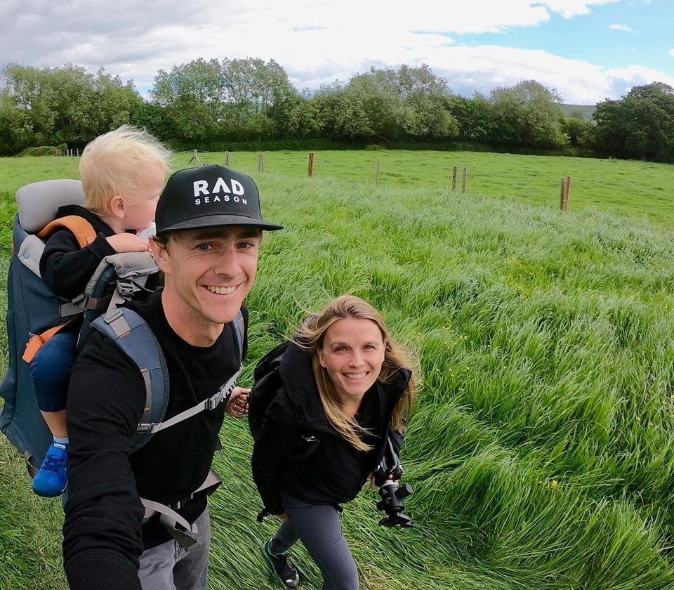 Oli Russell-Cowan and family on Rad Season's Summer Tour