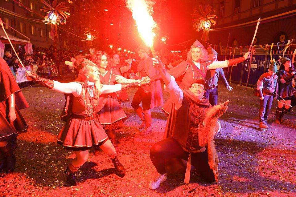 Rijeka Carnival street parade in Croatia