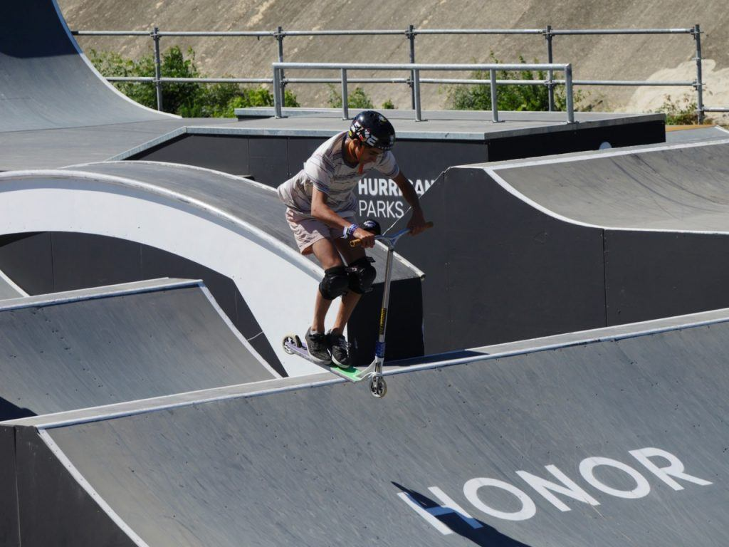 Scooter rider at FISE Montpellier