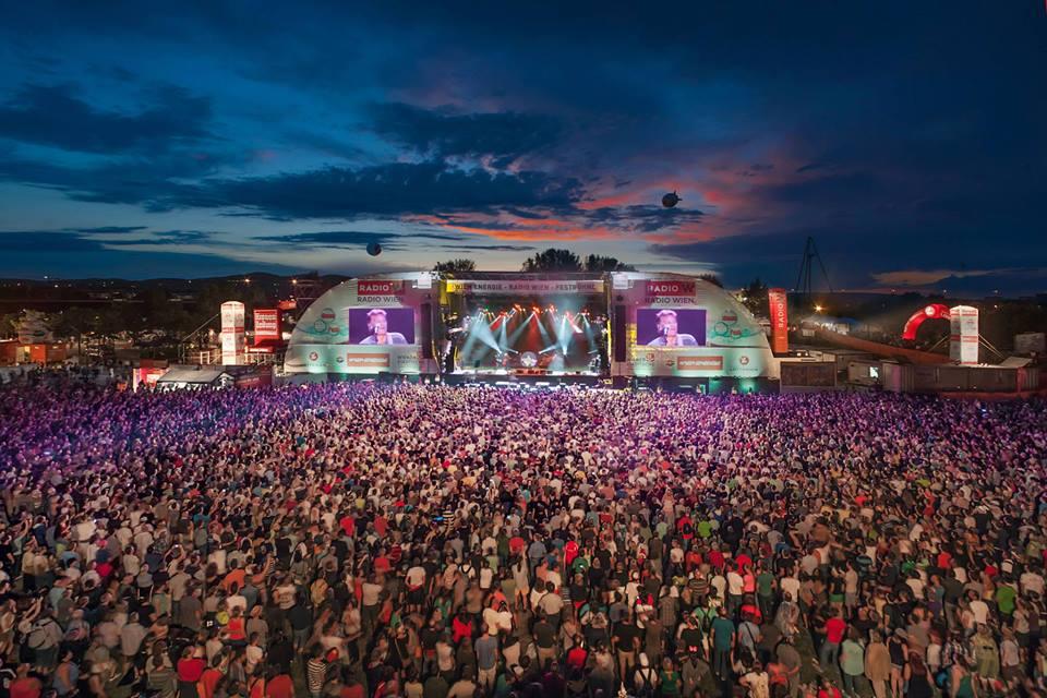 Danube Island Festival, Donauinselfest 2019 in Vienna, Austria