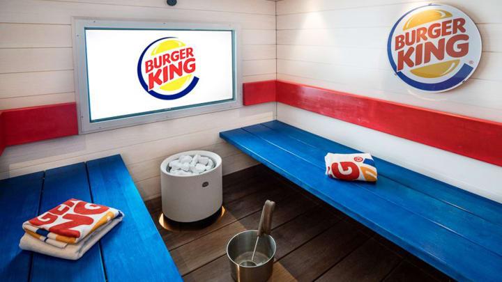 Burger King Sauna in Helsinki, Finland
