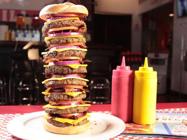 Octuple Bypass Burger at Heart Attack Grill, Las Vegas