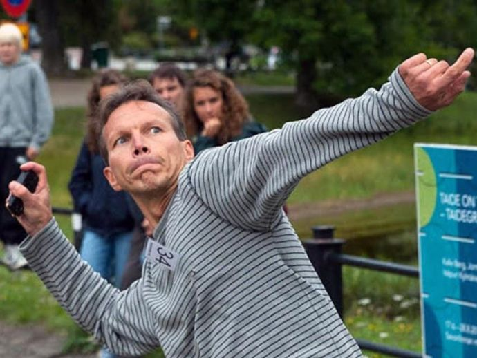 Mobile Phone Throwing Championships in Finland