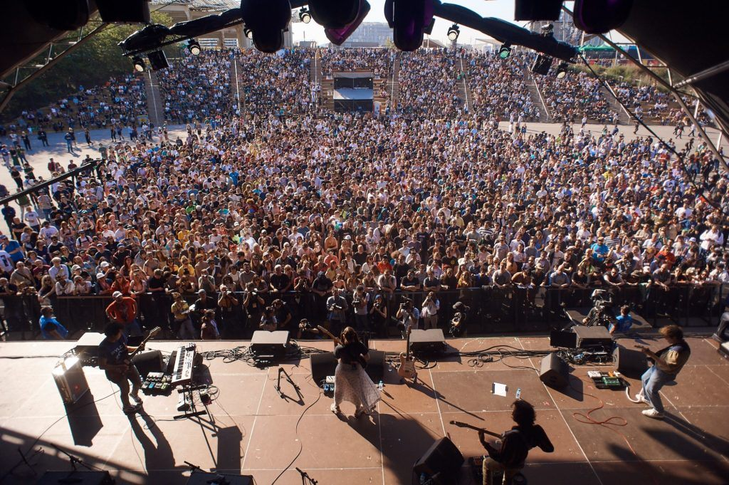 on stage at Primavera Sound Barcelona