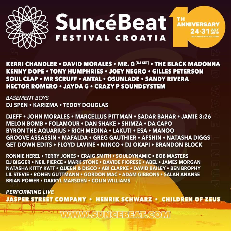 Suncebeat 2019 lineup