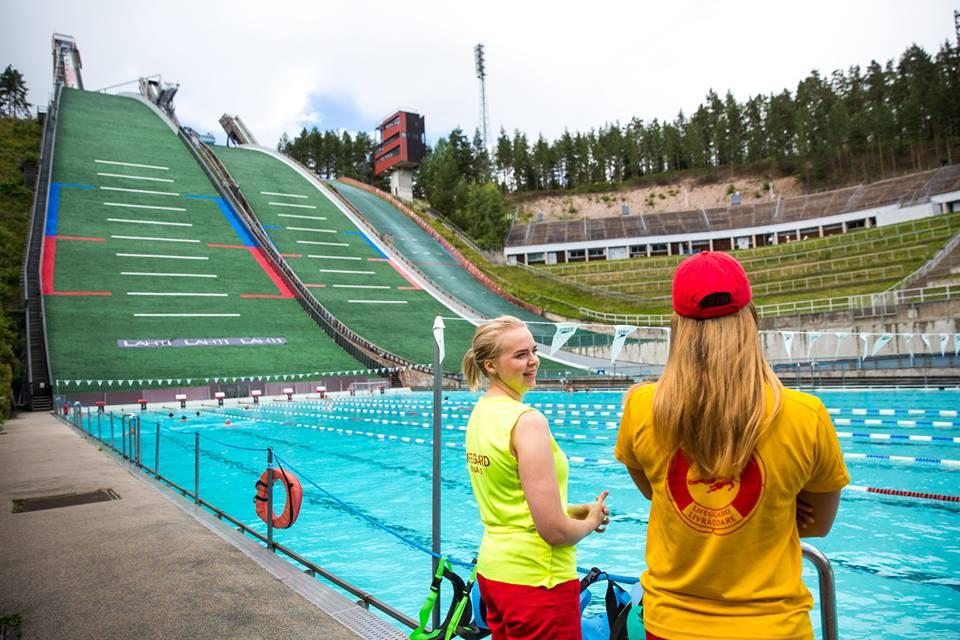 Swim at Lahti Ski Jump Tower