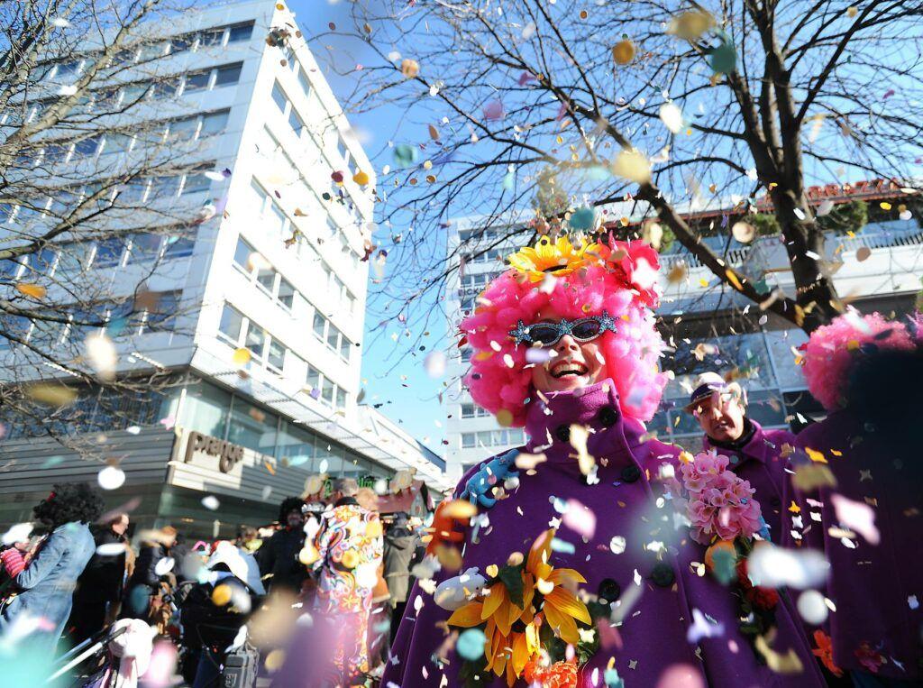 Confetti at Duesseldorf Carnival