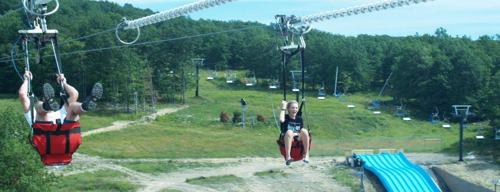 zip rider at montage mountain