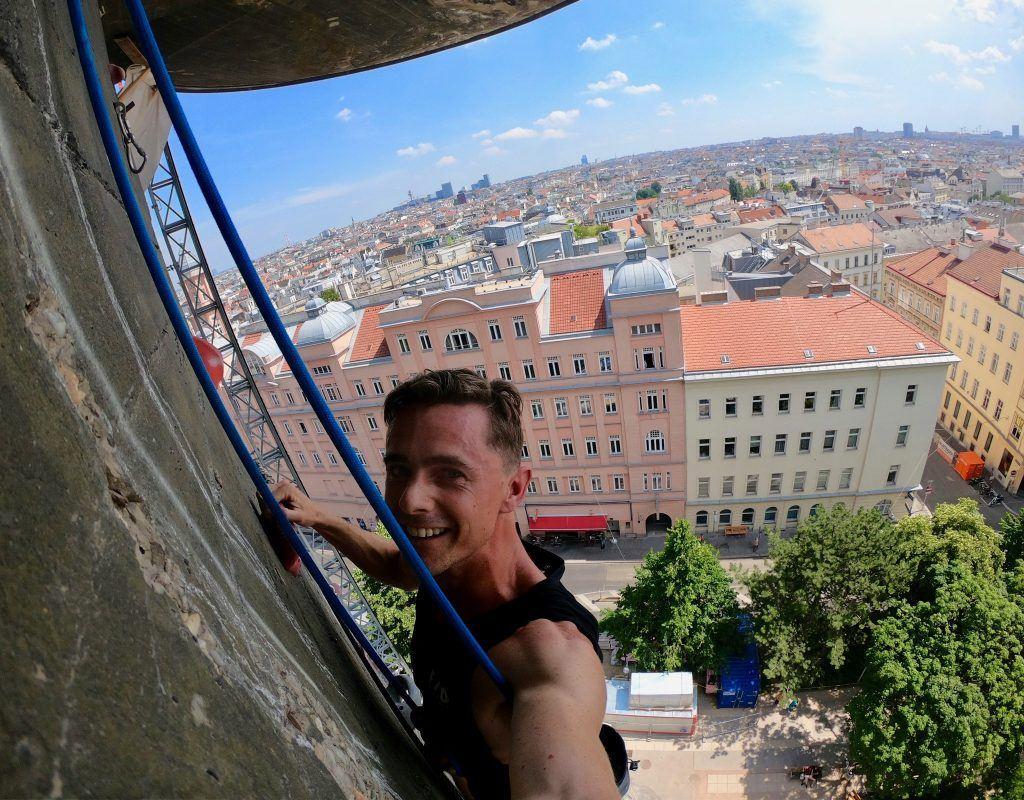 Climbing the Flakturm in Vienna
