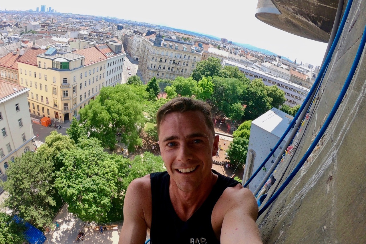 cool things to do in vienna, climbing, mountain biking and wakeboarding