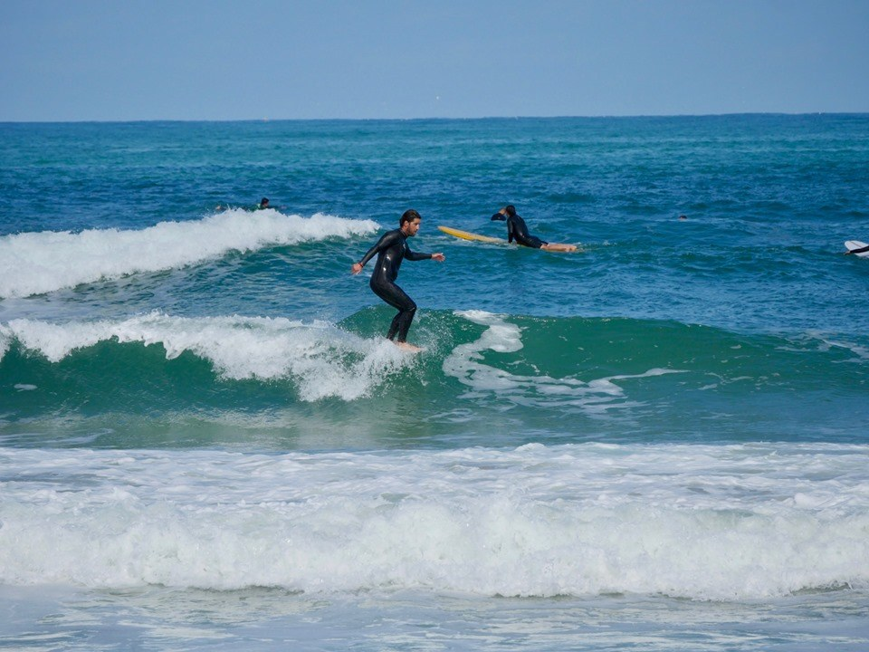 surfing in south west france