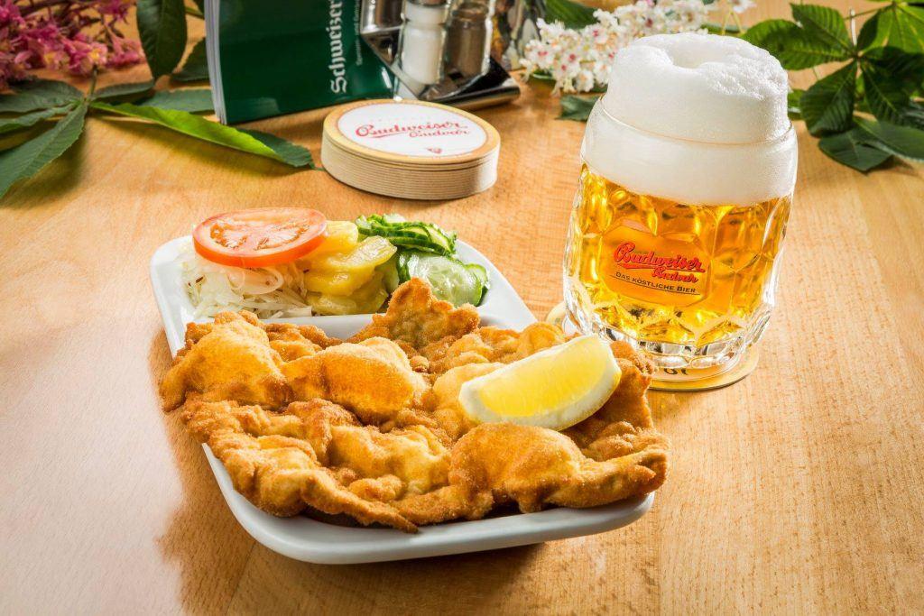 Wiener schnitzel in Vienna, Austria
