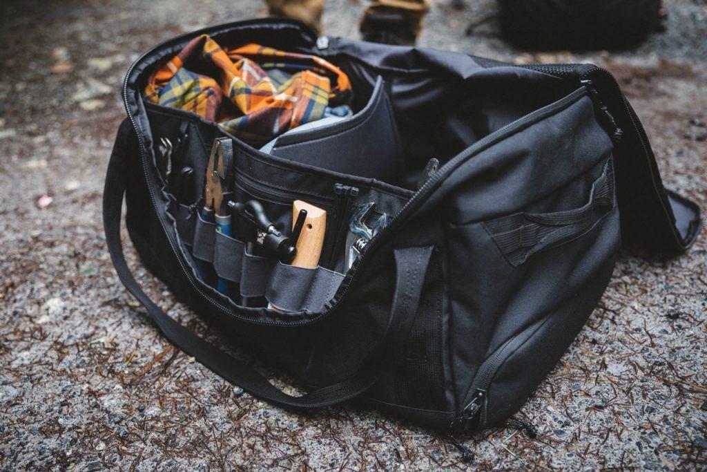 mountain bike bag and gear