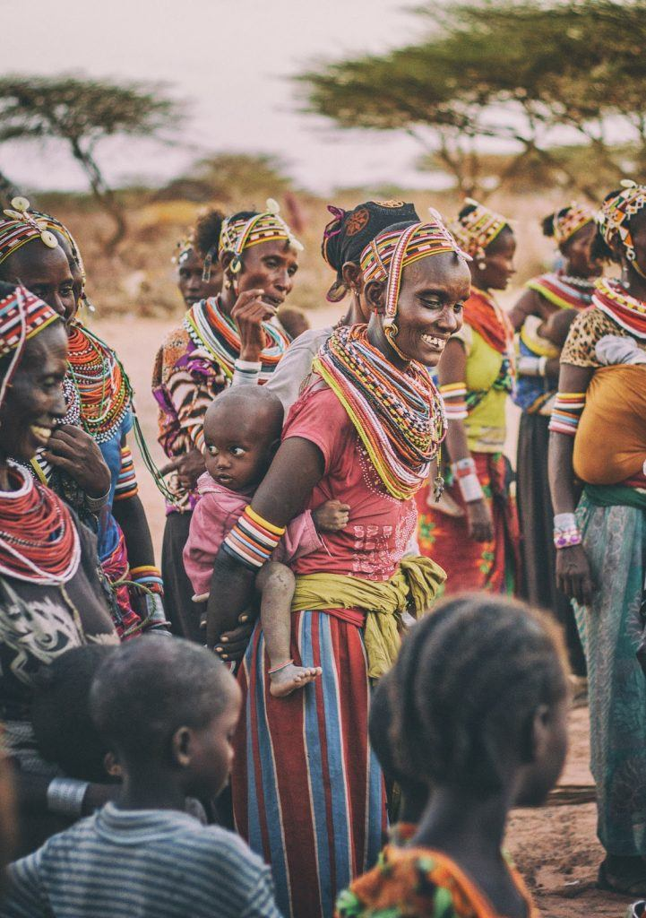 South African Island Safari culture meeting a local tribe