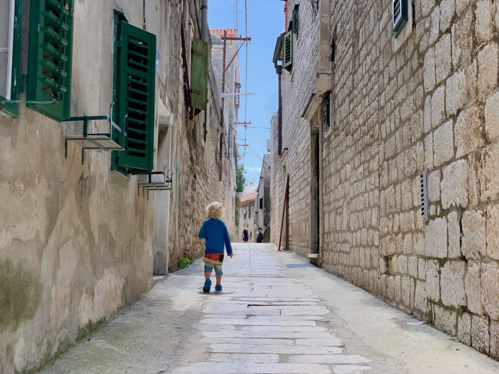 The city of Sibenik can be easily navigated on foot