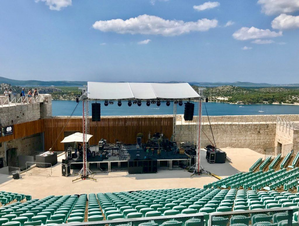 breathtaking views over the water and a killer acoustic bouncing across the fortress walls