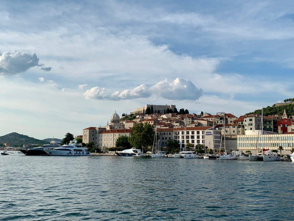 Get to Sibenik by boat