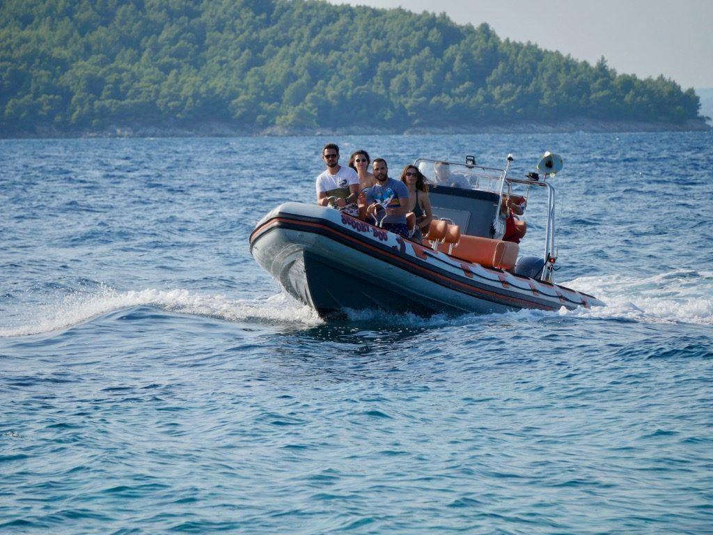 speed boat ride in Croatia