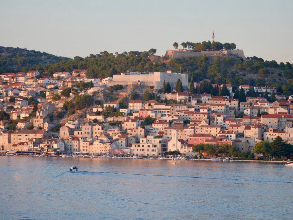 Situated on a hilltop north of the Sibenik's historical centre