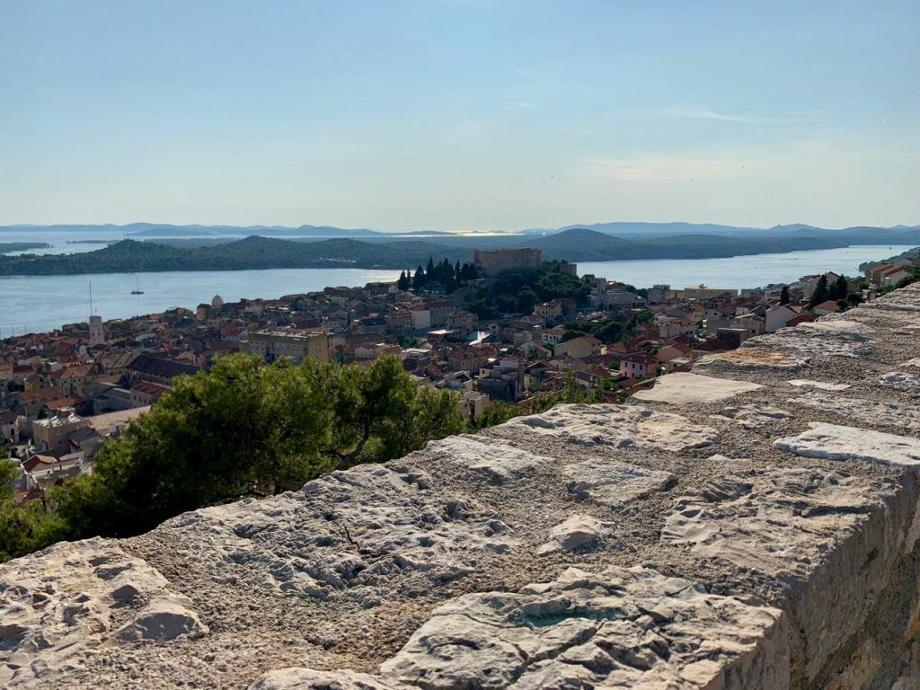 perfect spot to grab a glass of wine as the sun goes down over Sibenik