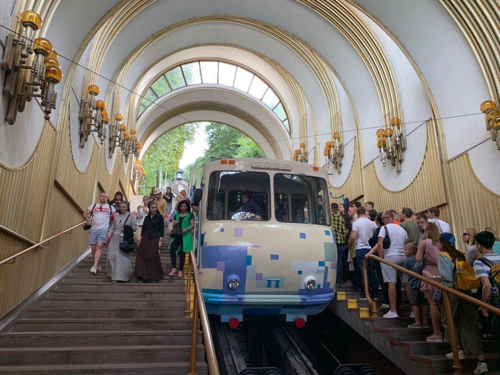 getting around Kyiv by train