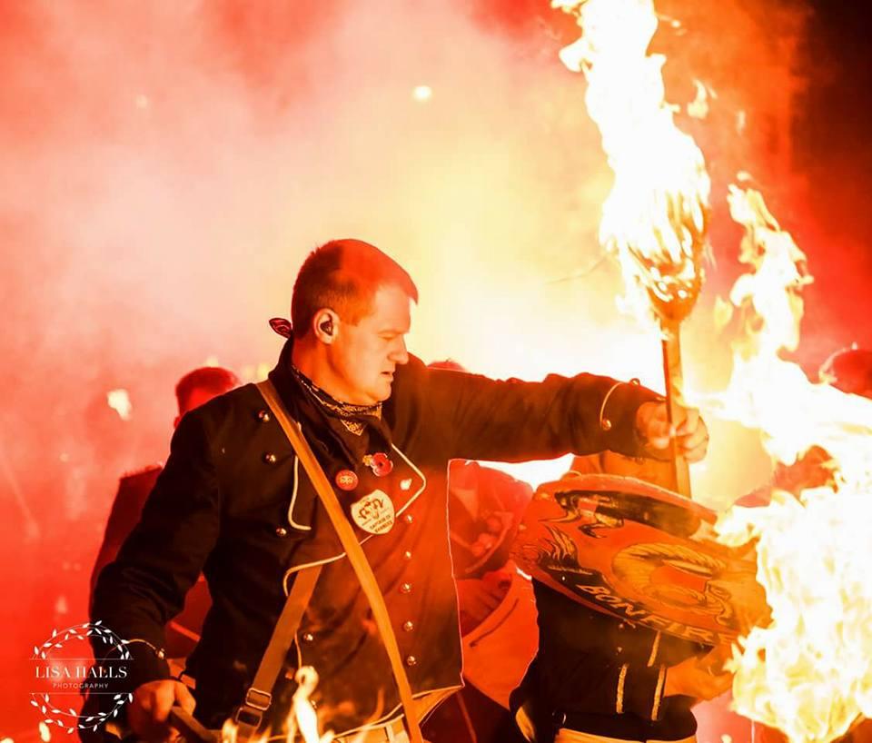 Lewes Bonfire Night in UK