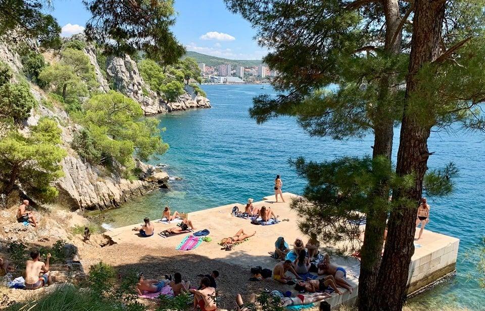 Martinska Beach in Sibenik, Croatia