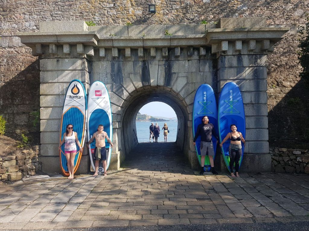 Paddle Boarders at Royal William Yard, Plymouth