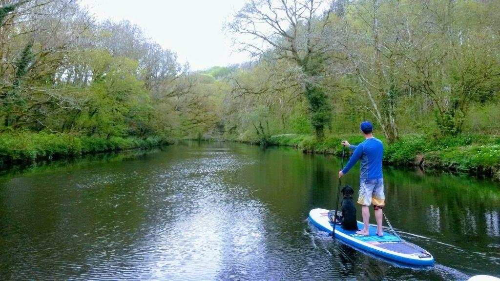 Paddle boarding in Dartmoor, UK