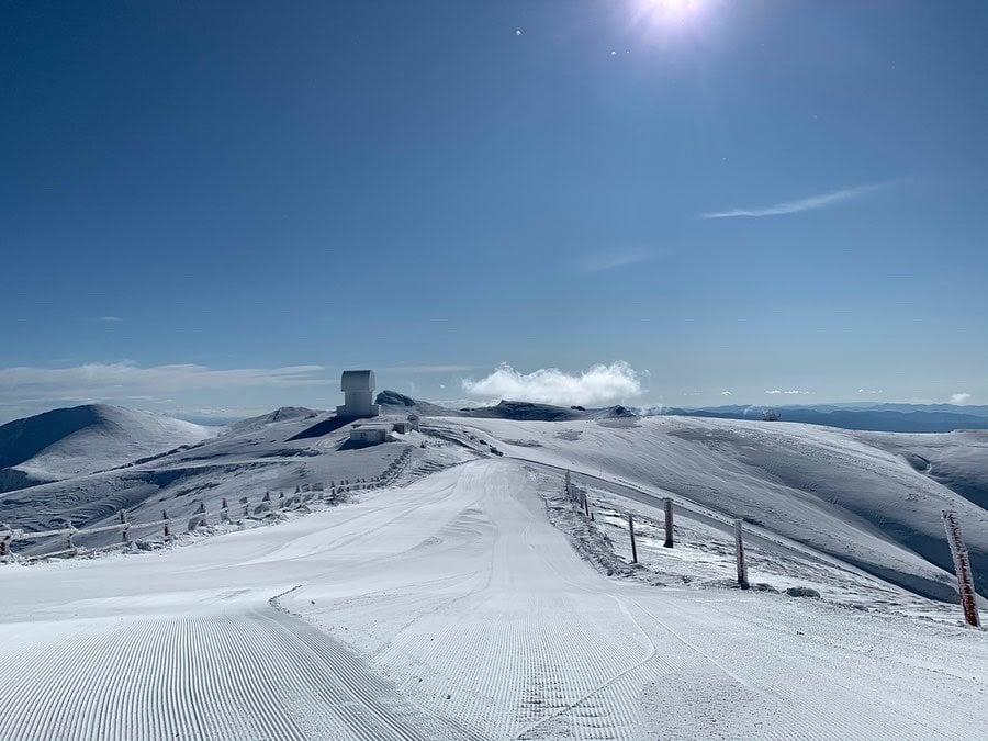 top of the ski resort in Greece