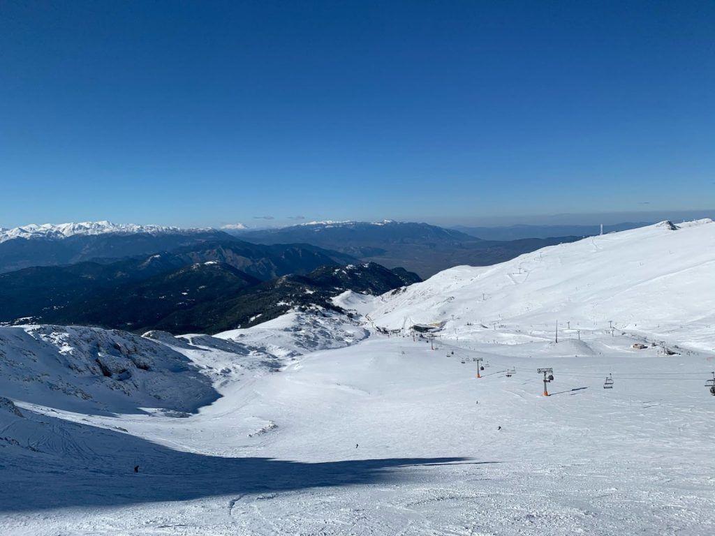 skiing in Greece at Parnassous Ski Resort