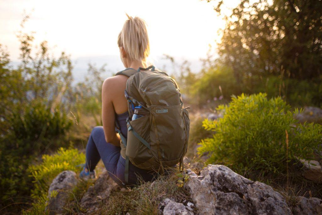 hiking with day backpack