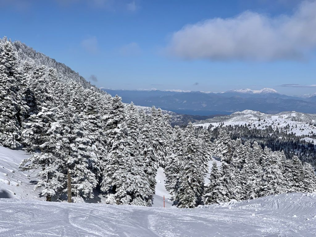 sea view from Greece ski resort