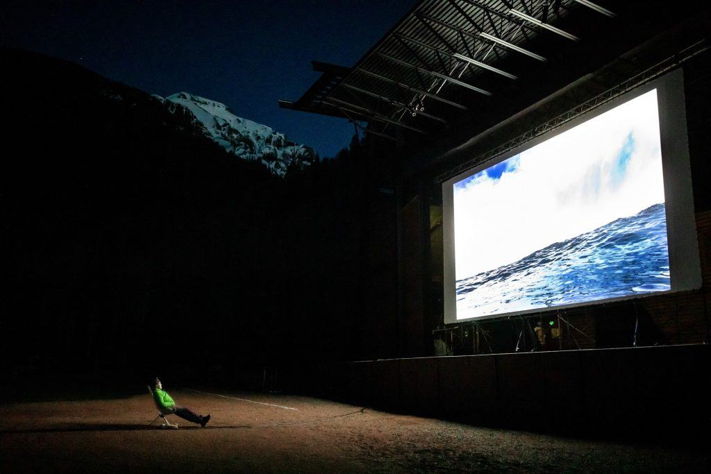 Base Camp Outdoor Theater at Mountainfilm in Telluride, Colorado