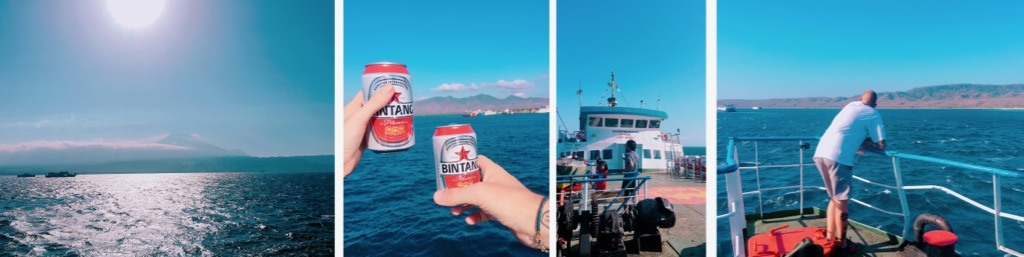 Bintang on the ferry to East Java