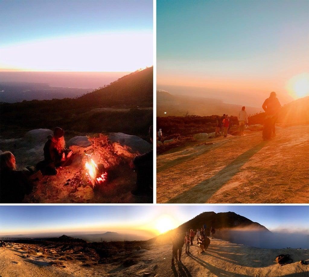 sunrise at Ijen volcano