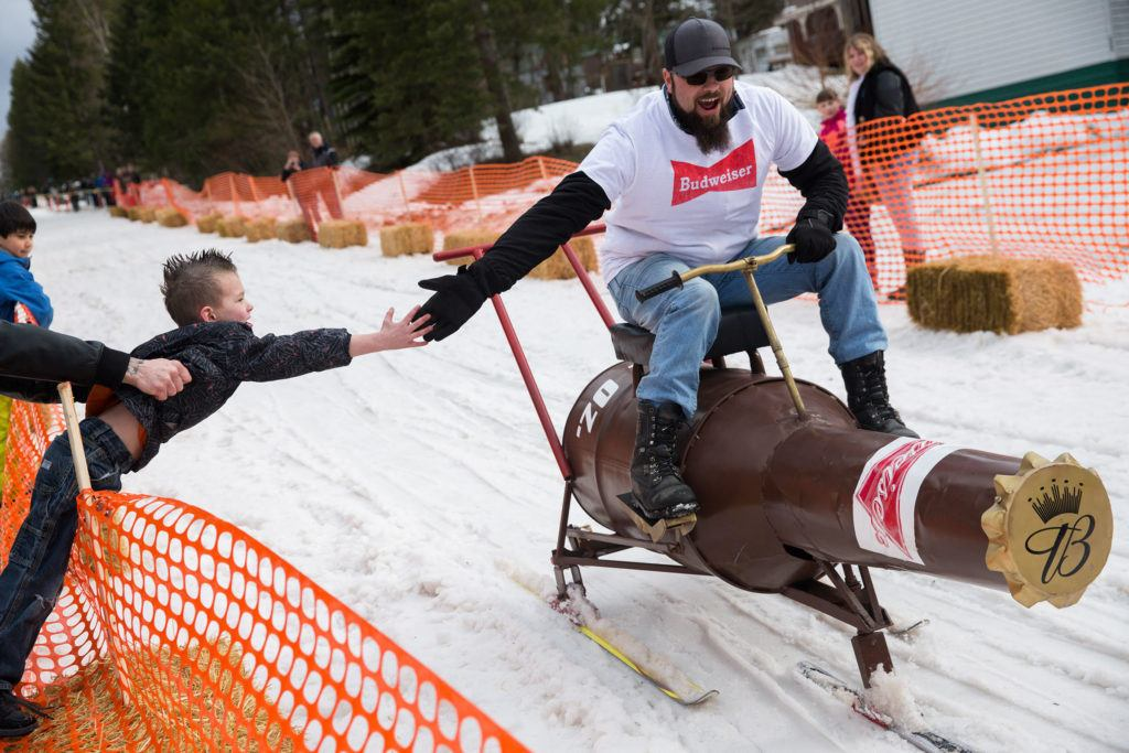 Barstool Ski Racing at Cabin Fever Days