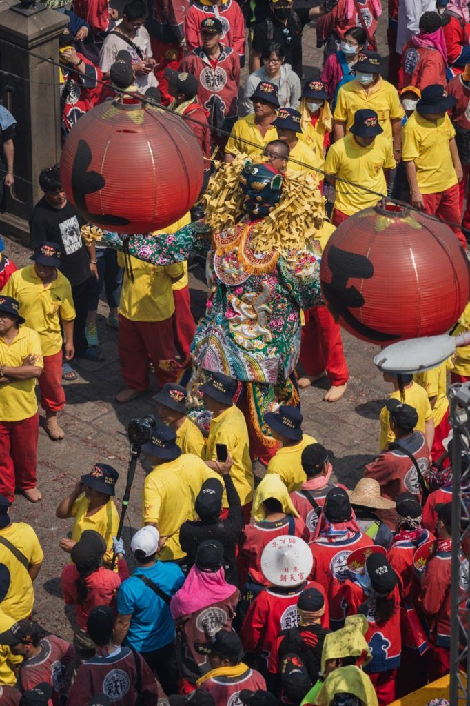 parade at the Mazu Festival in Beigang