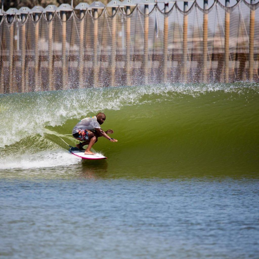 Surfing Kelly Slaters wave park
